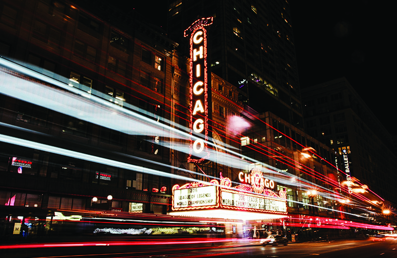 Chicago nighttime
